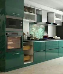 Wooden L Shape modular kitchen, Work Provided: Wood Work & Furniture, Warranty: 5-10 Years