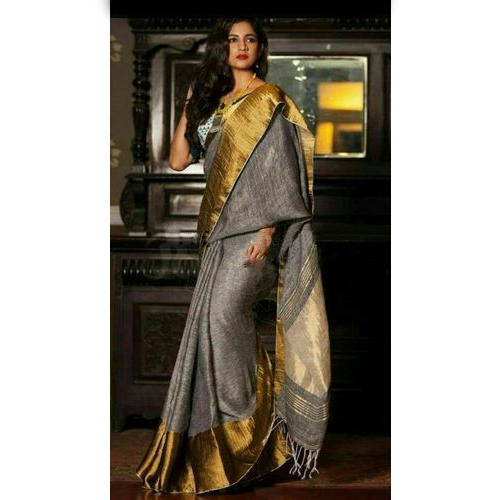 4605efc055 Party Wear Ladies Fancy Linen Saree