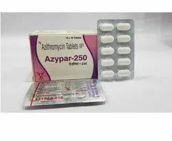 二十霉素250毫克氮杂蛋白-250氮霉素片IP 250 mg,10 x 10片剂