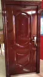 Teak Wood Standard Imported Steel Main Doors Single Door