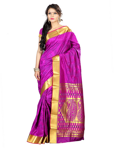 15da74239af JP7105PV Women s Art Silk Kanchipuram Saree (Purple) at Rs 1654 ...