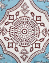 Hand Block Printed Floral Square Pouf Ottoman Floor Stool Cover