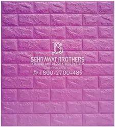 Pink 3D Cushioning Brick Plastic Wall Panels