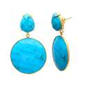 925 Sterling Silver Fantastic Model Earring Circular Trendy Cool Fashion Gemstones Women Earring