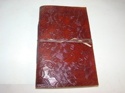 Embossed Handmade Genuine Leather Journal