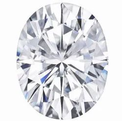 White Oval Cut Moissanite Stone