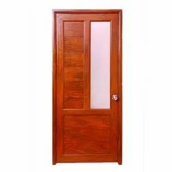 Color Coated Brown Galvanized Iron Safety Door, Hinged, Size: 4x7 Feet