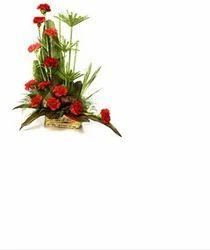 Red Carnation Arrangement 15 Flowers