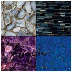 Marble Mosaic Random Gemstone Tiles, Size: Large (12 inch x 12 inch), Thickness: 10-15 mm