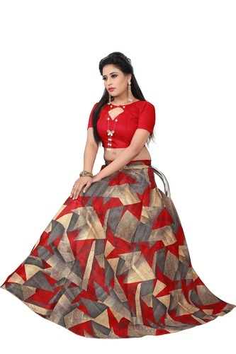 d5c71a718e Banglori Satin Red Crop Top Lehenga Choli For Festival, Rs 499 ...