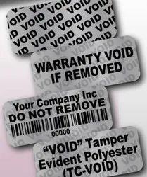 Void Label / Sticker (Roll Form) (Pre Die Cut)