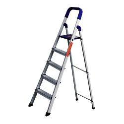 Parasnath Home Pro Folding 5 Steps Aluminum Ladder
