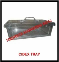 ACRYLIC Square Cidex Tray, for Hospital, Packaging Type: Box