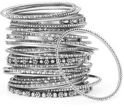 bangles skinny size kors lyst one product buckle jewelry in metallic silver michael color