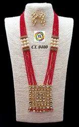 CL Customised Kundan Long Fashion Jewellery Necklace Set