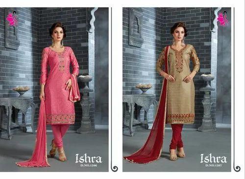 71d201befd Semistitched Salwar Suits - Khushika Fancy Churidar Suit ...
