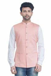 Linen Style Nehru Jacket Waistcoat