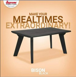 Supreme Bison Table or 6 Seater Dining Table