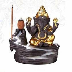 Lord Ganesha Fountain Smoke Backflow Incense Holder