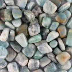 Natural Aquamarine Gemstones Tumbles