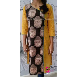 Party Wear Cotton Ladies Printed Suit