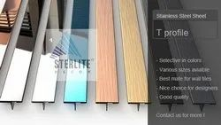 Sterlite Decor Stainless Steel T Patti Profile