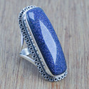 Unique Jewelry Blue Sun Sitara Gemstone 925 Sterling Ring