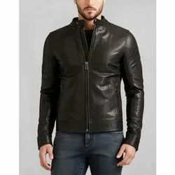Black Round Leather Jacket