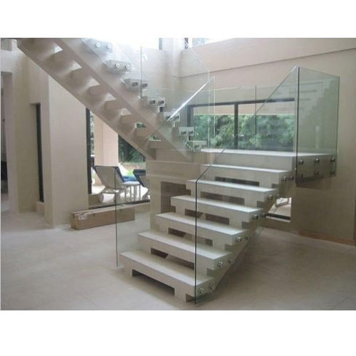 Modern Glass Stair Railing