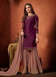 Hand Work Party Wear Sharara Suits Collection