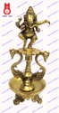 Oil Lamp With Dancing Ganesh & 2 Swan