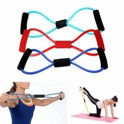 8 Shaped Toning Tube Resistance Pull String Accessories For Cross Fitness Gym Training