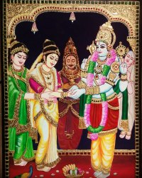 Srinivasar Thiru Kalyanam Tanjore Painting