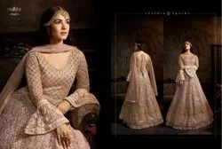 Designer Latest Heavy Butterfly Net Anarkali Suit