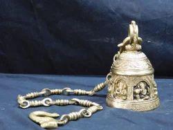 Golden Brass Handicraft Bell For Home Decor