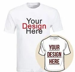 Round Neck Customized Printed T Shirts