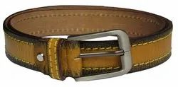Casual Stitch Leather Belt