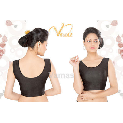 fa7b3c3ebc3e5c Cotton Black Sleeveless Blouse