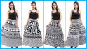 Black & White Wrap Around Skirts