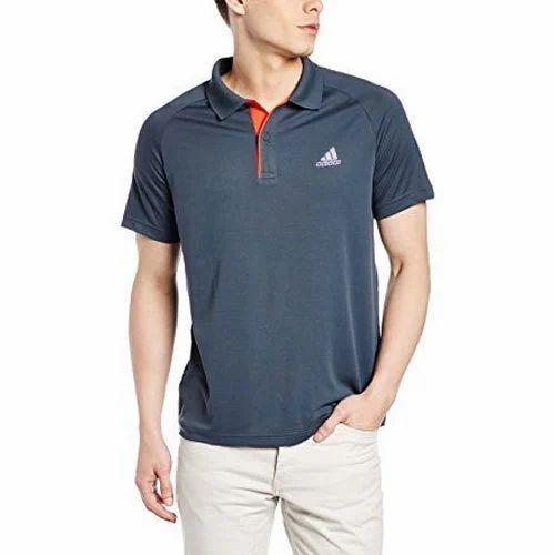 9c31fb218bd9 Adidas Men's Half Sleeves Grey Polo T-Shirt, Size: S-XL, Rs 870 ...
