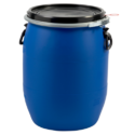 Blue Hdpe Open Top Drum, Capacity: 30-210ltr