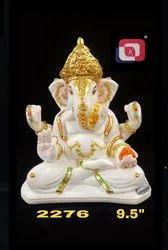 Artificial Gold Polyresin Lord Ganesha Idol