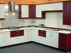 V Shaped Modular Kitchen Services