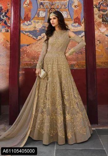 Party Wear Women Long Designer Dress Rs 3915 Piece Brijraj Fashion Private Limited Id 21330943262,Kurti Designer Mirror Work Dresses