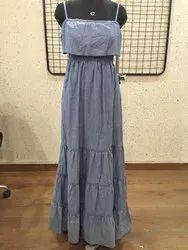 Ladies Grey Designer Dress