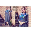 Rachna Bluebell Mode Silk Pattern Cut Kurti with Stole