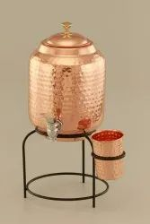 Pure Round Copper Water Matka, Capacity: 5 Ltr