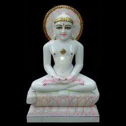 Marble Mahavir Jain Statue