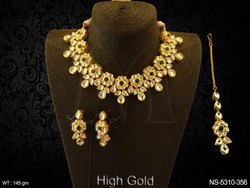 Multi Layer Kundan Necklace Set
