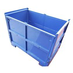 Blue Steel Pallet Box